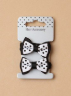 Spotty bow hair elastics (Code 2877)